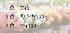 おもてなしになるお花ランキング