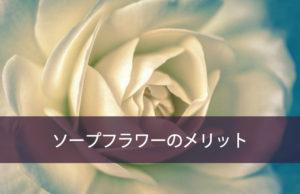 他のお花と比べてソープフラワーのメリットは?