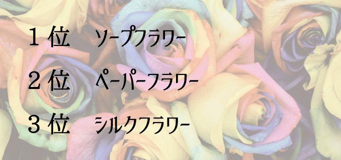プレゼントで喜ばれる造花ランキング
