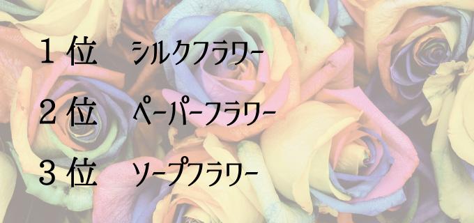 すぐに購入できる造花ランキング