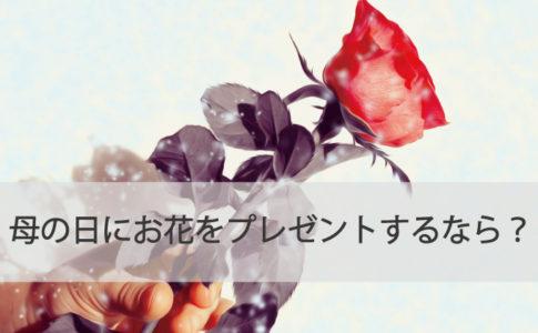 母の日にお花をプレゼントするなら?
