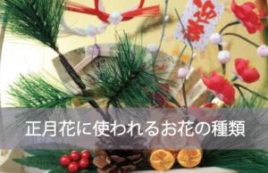正月花に使われるお花の種類は?