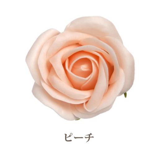 ソープフラワー花材【フレグランスソープ プティローズ】バラ(小輪)25輪入り/全8色※ピーチ