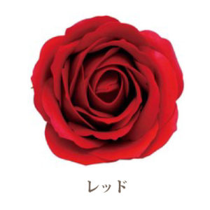 ソープフラワー花材【フレグランスソープ ローズL】バラ(大輪)5輪入り/全13色※レッド