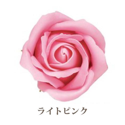 ソープフラワー【フレグランスソープ ローズM バラ中輪】9輪入り・全17色※ライトピンク